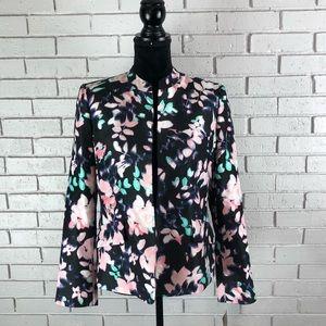 Nipon Boutique Black Floral Tutu Spring Blazer